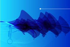 Futuristic abstract vector background Stock Photo