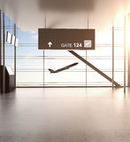 Futuristic airport Stock Photography