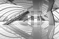 Futuristic Airport Interior Stock Image