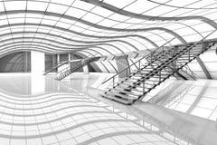 Futuristic Airport Interior Stock Images