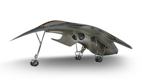 Futuristic alien 3D military spaceship Royalty Free Stock Image