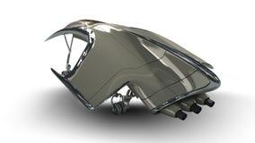Futuristic alien 3D military spaceship Royalty Free Stock Photo