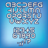 Futuristic alphabet font Royalty Free Stock Photography