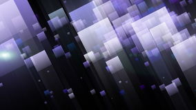 Futuristic animation with blinking light and color changing squares, loop HD 1080p stock video