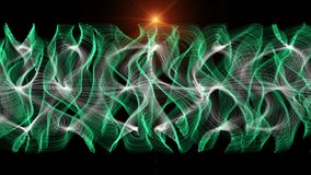 Futuristic animation with moving wave object and lights, loop HD 1080p. Futuristic video animation with color changing moving wave object and lights, loop HD stock video footage