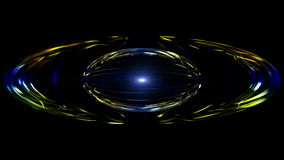 Futuristic animation with particle object and blinking light in motion, loop HD 1080p stock video