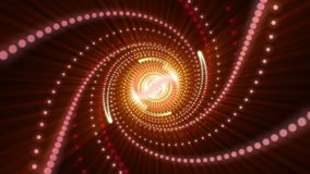Futuristic animation with particle object and light in motion, loop HD 1080p Royalty Free Stock Photo
