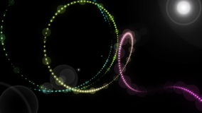 Futuristic animation with particle object and light in motion, loop HD 1080p. Futuristic video animation with moving particle stripe object and light, loop HD stock video