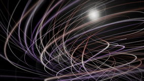 Futuristic animation with particle object and light in motion, loop HD 1080p stock footage