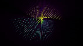Futuristic animation with particle object and light in motion, loop HD 1080p stock video