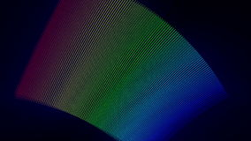 Futuristic animation with particle stripe object and light, loop HD 1080p. Futuristic video animation with moving particle stripe object and light, loop HD 1080p stock video footage