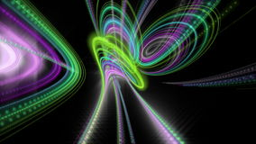 Futuristic animation with particle stripe object and light shimmer in slow motion, 4096x2304 loop 4K stock footage