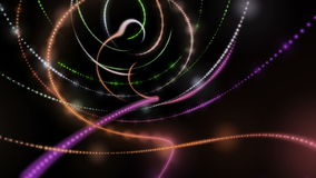 Futuristic animation with particle stripe object in motion, loop HD 1080p stock video
