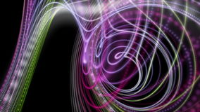 Futuristic animation with particle stripe object in slow motion, loop HD 1080p stock footage