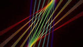 Futuristic animation with stripe object and light, loop HD 1080p. Futuristic video animation with moving stripe object and lights, loop HD 1080p stock video