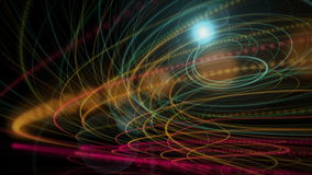Futuristic animation with stripe object and light in motion, loop HD 1080p stock video footage