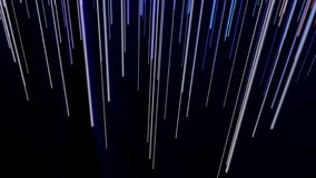 Futuristic animation with stripe object and light shimmer in motion, 4096x2304 loop 4K stock video