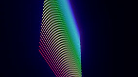 Futuristic animation with stripe object in motion, loop HD 1080p stock video footage