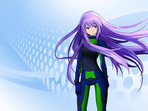 Futuristic anime girl Stock Images