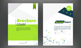 Futuristic annual report cover set. Brochure or flyer template in A4 in technology style. Concept layout design for Royalty Free Stock Photos