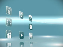 Futuristic app icons Stock Photo