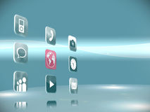 Futuristic app icons Stock Images