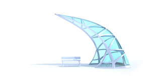Futuristic arch and bench Stock Image