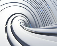 Futuristic architectural background Royalty Free Stock Image