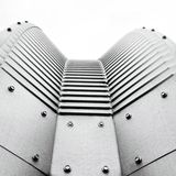 Futuristic architectural detail Royalty Free Stock Photos