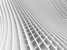 Futuristic Architecture Background With Stripe Pattern. 3d Render Illustration Royalty Free Stock Photo