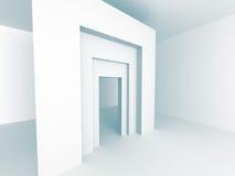 Futuristic Architecture Building Construction Background Stock Photo