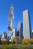 Futuristic architecture in Chicago Stock Photos