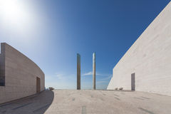 Futuristic architecture detail in the Champalimaud Foundation Stock Photo