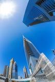 Futuristic architecture in Dubai, Emirate towers, United Arab Emirates Stock Photo