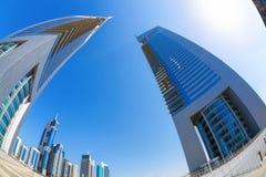 Futuristic architecture in Dubai, Emirate towers, United Arab Emirates Royalty Free Stock Photo