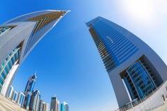 Futuristic architecture in Dubai, Emirate towers, United Arab Emirates Stock Images