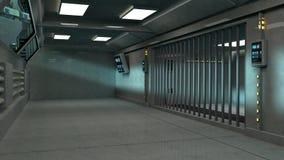 Futuristic architecture intererior corridor Royalty Free Stock Photos