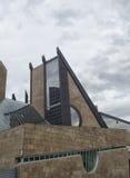 Futuristic architecture in Italian city Stock Images