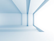 Futuristic Architecture Light Room Background. 3d Render Illustration Royalty Free Stock Photo