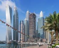 Futuristic Architecture in Marina of Dubai Stock Photos