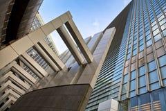 Futuristic architecture, office building facade Stock Image