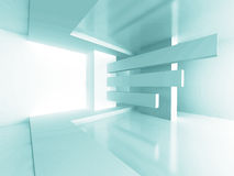 Futuristic Architecture Room Interior Design Background. 3d Render Illustration royalty free illustration