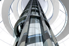 futuristic arkitektur Arkivfoto
