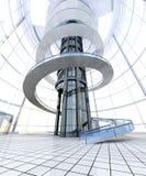 futuristic arkitektur Fotografering för Bildbyråer