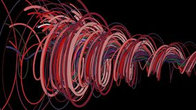 Colorful spiral lines royalty free illustration