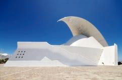 Futuristic Auditorio de Tenerife building. Royalty Free Stock Photo