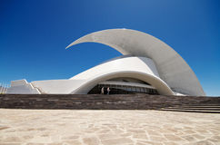 Futuristic Auditorio de Tenerife building. Royalty Free Stock Photography