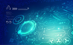 Futuristic backdrop; abstract circuit background; blue digital technology; Stock Image