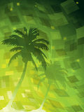 Futuristic background. With palm trees Royalty Free Stock Images