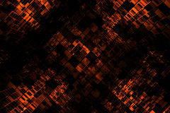 Futuristic Background. An illustrated background with an abstract futuristic design in dark orange color Stock Image